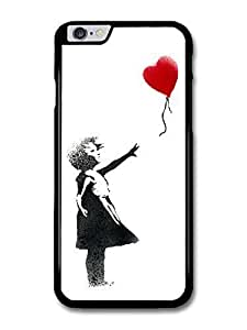 "AMAF ? Accessories Banksy Balloon Girl Case Street Art Graffiti case for iPhone 6 Plus (5.5"")"