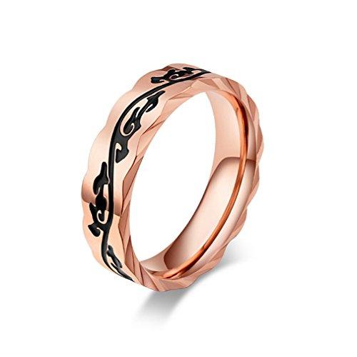 4f9420c59dc9 YAZILIND anillos de acero de titanio retro patrón de fiesta de banda de  rock de oro