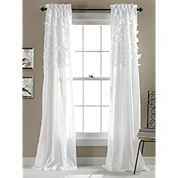 Lush Decor Avery Window Curtains 84 By 54 Inch White Set Of