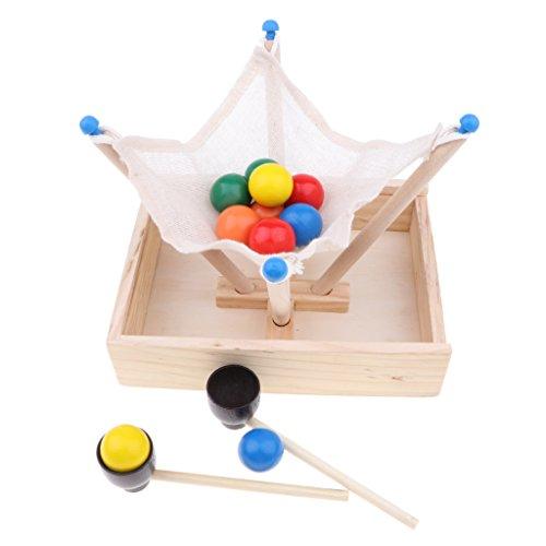 B Blesiya ウッド製 スティック スプーン ボールゲームセット 子ども おもちゃ