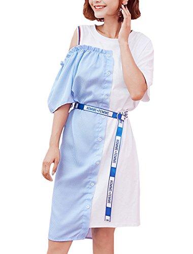 ELLAZHU - Vestido - para mujer GT130 Blue