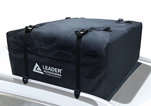 Leader Accessories Waterproof Car Roof Bag Rooftop Carrier With Cargo Bag Anti-slip Mat (15 Cubic Feet )