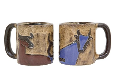 One (1) MARA STONEWARE COLLECTION - 16 Oz Coffee Cup Collectible Dinner Mug - Zodiac Sign - Taurus The Bull - Bull Taurus