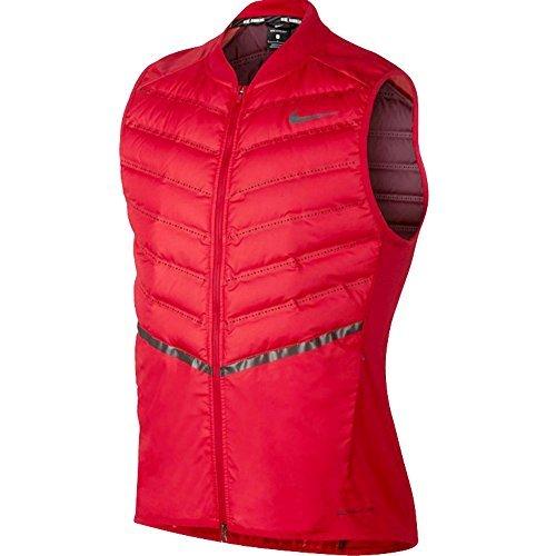 Nike men's Aeroloft Running Down Vest - University Red/Anthr