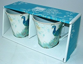 222 Fifth Lakshmi Peacock Fine Porcelain Mug Set of Two