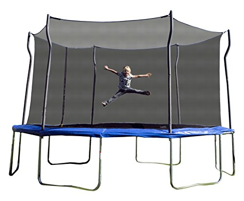 Kinetic-Trampolines-K14D-BE-Trampoline-with-Enclosure-Blue-14-Feet