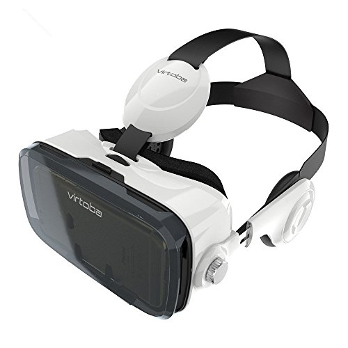 Price comparison product image Virtoba X5 3D VR Headset with Headphone Virtual Reality Goggles for Video Movie Game Box for Iphone 7 IOS Android 4-6 inch