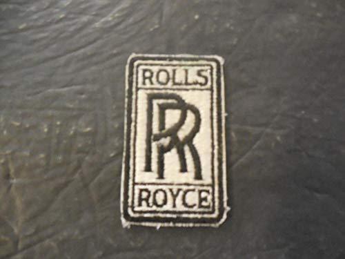 """Rolls Royce Cloth Sew On Patch Appr 1.5"""" X 2.75"""""""