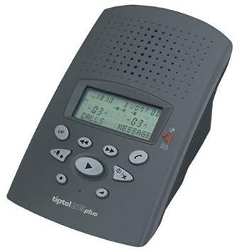 Tiptel 215 Plus anthrazit Aufzeichnungskapazit/ät digitaler Anrufbeantworter mit ca 30 Min