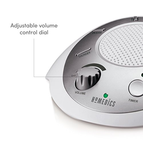 homedics white noise sound machine portable sleep therapy import it all. Black Bedroom Furniture Sets. Home Design Ideas