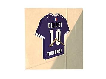 Francia Liga1 - Reloj de pared en forma de camiseta de fútbol - personalización gratuita: