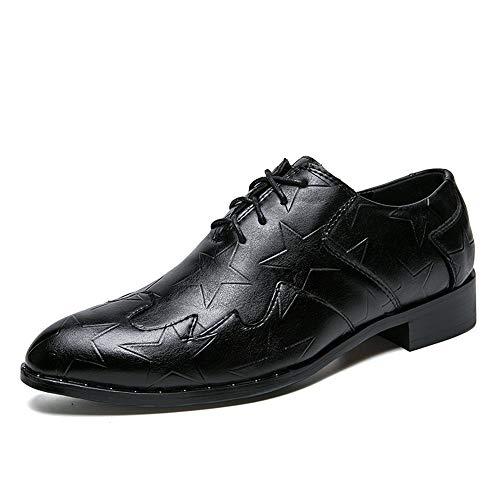 Nero da up Fang Prints Classic Dimensione 2018 Lace shoes Primavera Estate cerimonia uomo Retro 43 Scarpe da Nero uomo EU Fashion Casual da scarpe Front Comode Oxford Color TTgxwq8rf