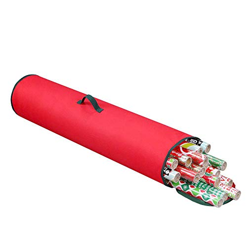 - Primode Gift Wrapping Storage Bag with Handle | Wrapping Paper Tube Bag for Storing Multiple Rolls of Gift Wrap, 40
