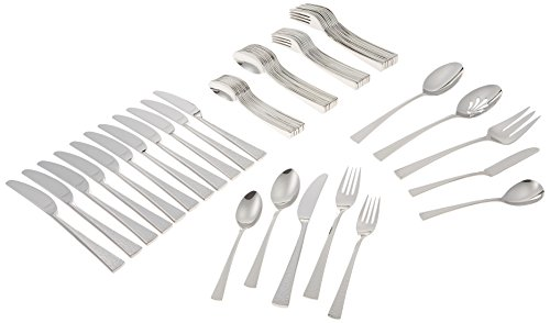 - Gorham Biscayne 65-Piece Stainless Flatware Set