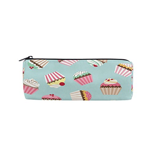 WOZO Retro Cupcake Cake Pen Pencil Case Makeup Cosmetic Pouch Case Travel Bag -