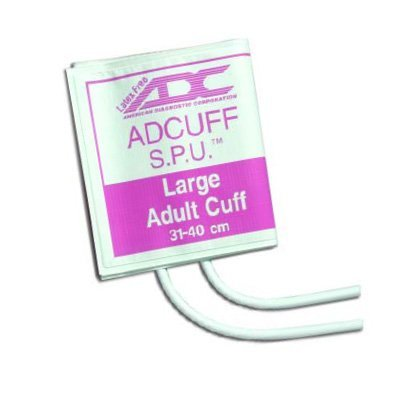 ADC SPU CUFF, 2 Tube, No Con., Lrg. Adult, 10/pkg. 8400X-10 by ADC
