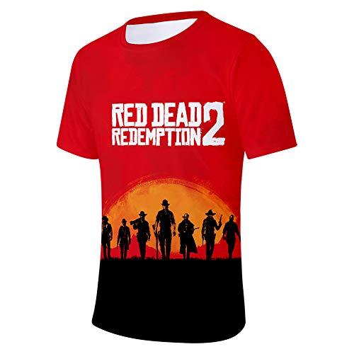 T Redemption 2xs Homme Ctooo Shirt Imprimé 2 04 4xl Dead Red HXq6q0d
