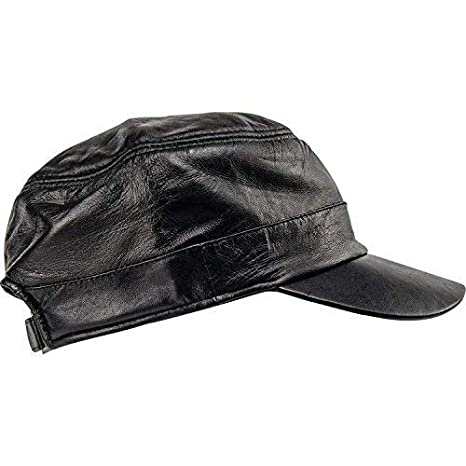 Amazon.com  Casual Outfitters Solid Genuine Lambskin Leather Cap  Clothing 5fac8fc14dd3