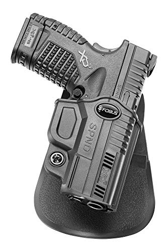 Fobus SPND Evolution Holster for Springfield XD-S 3.3in. & 4in. .45, XD-S 3.3in. & 4in. 9mm & .40 , Right Hand Paddle