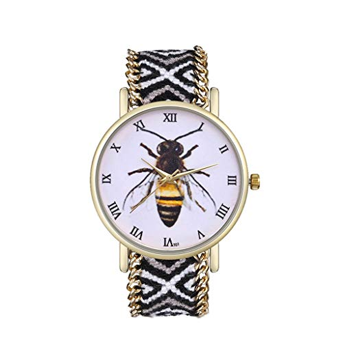 (Smileyth Women Casual Watches,Fashion Elegant Female Dress Watches Comfortable Flexible Leather Band Roman Number Easy Reader Round Dial Case with White Face Present for Lover Girlfriend)