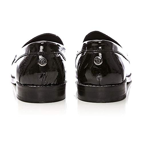 99b3bd9f187 Moda In Pelle Falconi Black Patent Leather  Amazon.co.uk  Shoes   Bags