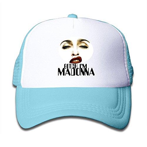 Price comparison product image XJBD Unisex-Adult Bitch I'm Madonna Baseball Caps SkyBlue