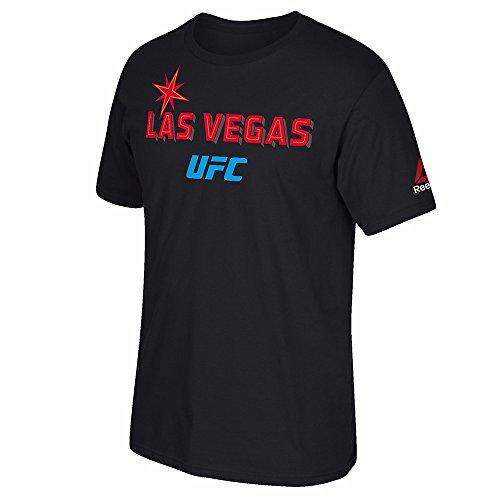 Reebok UFC Black 191 Vegas Welcom Graphic Print T-Shirt For Men – DiZiSports Store