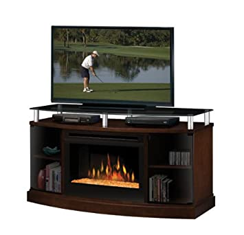 electric fireplace media center costco console mocha glass embers lowes canada
