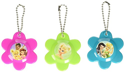 Disney Tinkerbell Flower Compact Mirror Keychain Birthday Party Favours (12 Pack), Multi Color, 2 1/4