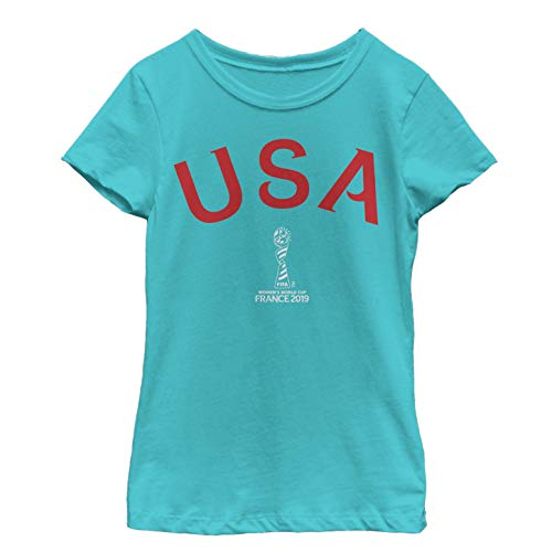 FIFA Big Officially Licensed Team USA Youth Girl's Tee, Tahiti Blue, x-Large]()