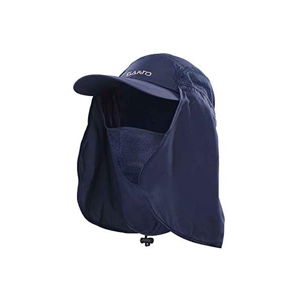 TSHOME Protezione Solare da Esterno a 360 ° Cappuccio per Cappello da Sole con Protezione per Il Collo e Coperchio per… 1 spesavip