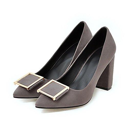 Meotina Talon Haut Femmes Pompes Bout Pointu Dames Chaussures Automne Talons Gris