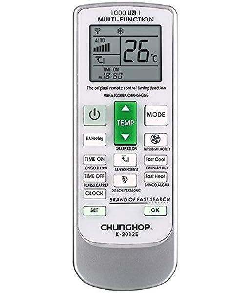 CHUNGHOP Mando Universal para Aire Acondicionado y Bomba de Calor Inverter: Amazon.es: Hogar