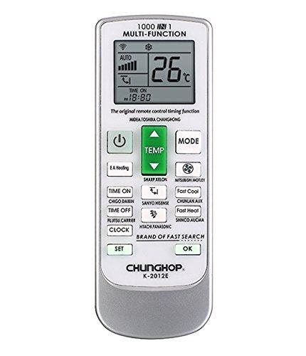AC Remote Replacement Universal AC Remote Control For Carrier, Trane,  Toshiba, Sanyo, Mitsubishi, Fujitsu, Hitachi, Haier, LG, York, Midea,  Fedders,