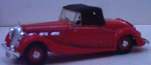 Dinky 17 1939 Triumph Dolomite - Red - Convertible - 1:43 Scale - Diecast - Special Edition