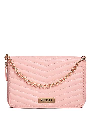GUESS Women's Dahlia Quilted ZipAround Travel Wristlet