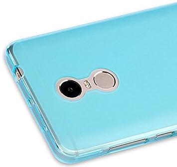 PREVOA ® 丨 Transparent Silicona TPU Protictive Carcasa Funda Case para Xiaomi Redmi Note 4 Pro Prime 5,5 Pulgadas Sartphone - Azul
