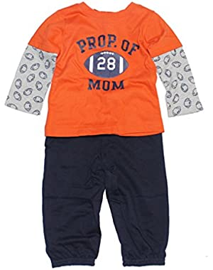 Carters Boys 2 Piece Prop. Of Mom Set