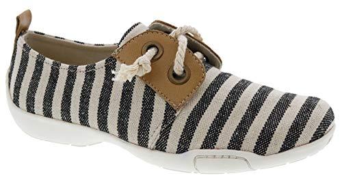 Ros Hommerson Calypso 62047 Women's Casual Shoe: Black Cream 10 X-Wide (2E) Lace Up
