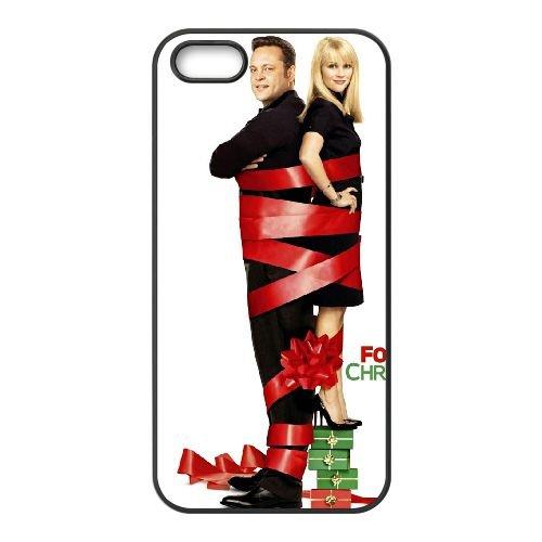 Four Christmases 2 coque iPhone 5 5S cellulaire cas coque de téléphone cas téléphone cellulaire noir couvercle EOKXLLNCD23743