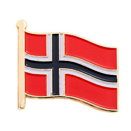 Norway Match (Norway Country Flag Lapel Pin Made of Metal Souvenir (Waving Flag Lapel Pin))