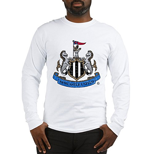 (CafePress Vintage Newcastle United FC Cr Unisex Cotton Long Sleeve T-Shirt White )