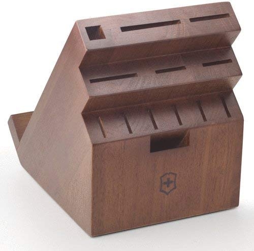 Victorinox 41505US2 Accessories Storage 13-Slot Swivel Block Dark Wood,