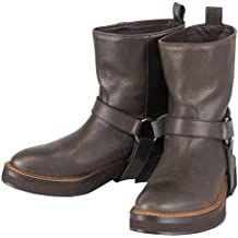 Brunello Cucinelli Brown Leather Ankle Boots Size 38.5/8.5