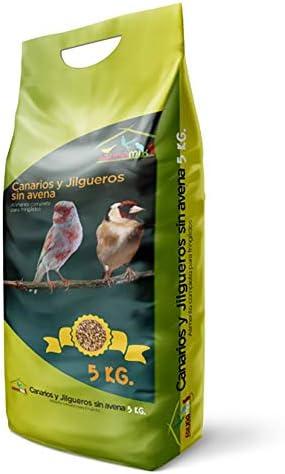 Faunamix Comida para Canarios, Jilgueros y Silvestres Natural sin Avena 5Kg
