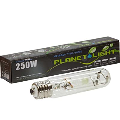 247Garden 250 Watt Metal Halide MH Grow Light - 18,000 lumens for Indoor Gardening/Hydroponics