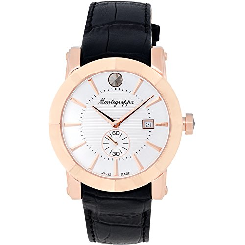 Montegrappa Lifestyle Collection Rose Gold with White Face Watch - IDNRWAIW by Montegrappa