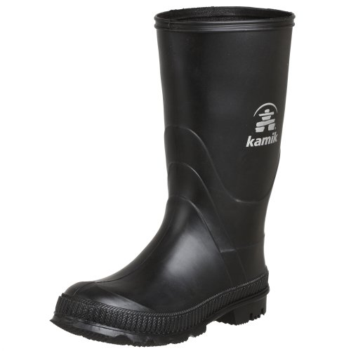 Kamik Stomp Rain Boot, Black, 6 M US Big Kid ()