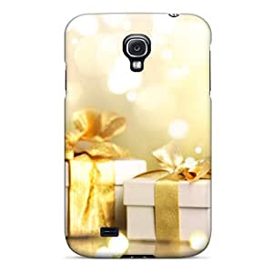 High Grade Spencerjj Flexible Tpu Case For Galaxy S4 - Champagne Boxes Gifts Holiday Christmas Merry