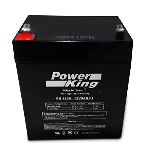 Powercell Zeus PC5-12 SLA Rechargeable Replacement Battery12 Volt 5-aH Beiter DC Power ()